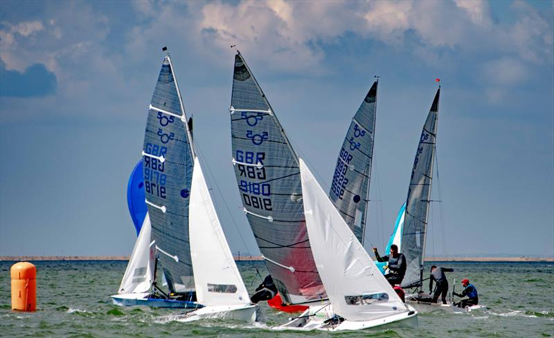 505 UK Nationals at Lymington photo copyright Paul French taken at Royal Lymington Yacht Club and featuring the 505 class