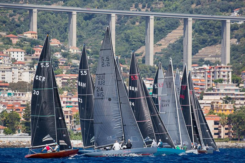 Start of race 3 on day 2 of the 2020 5.5 European Championship - photo © Robert Deaves
