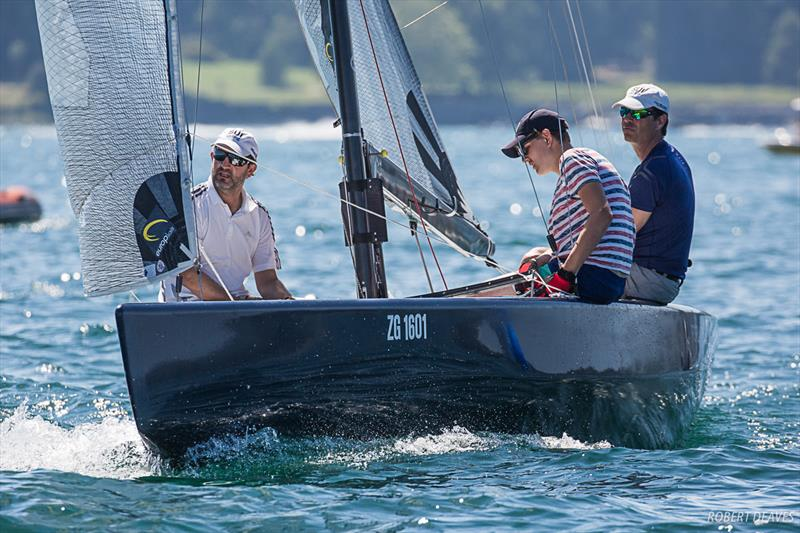 Forza Del Destino made the top 10 in the final day - 2019 International 5.5 Metre Swiss Open Championship - photo © Robert Deaves