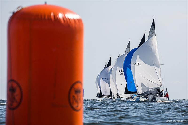 Close downwind in Race 1 - Day 1 - 2019 5.5 Metre Worlds in Helsinki - photo © Robert Deaves