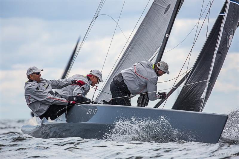 Artemis XIV leads the fleet into the final day - 5.5 Metre World Championship 2019 - photo © Robert Deaves