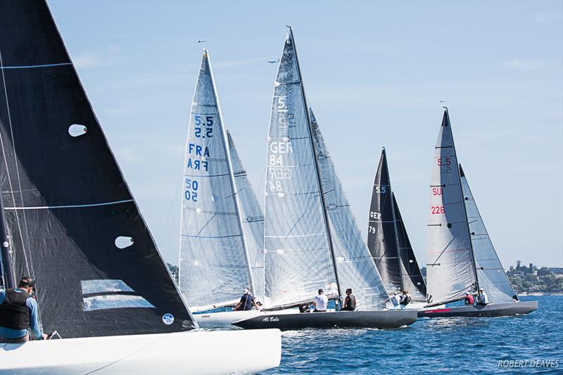 Shaolin leads off the start in Race 4 - 41 Régates Royales 5.5 mJI - photo © Robert Deaves