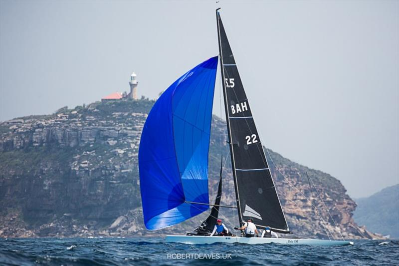 John B - 2020 International 5.5 Metre World Championship, day 2 - photo © Robert Deaves