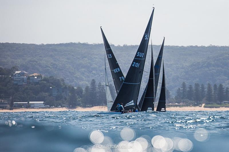 Upwind in race 7 - 2020 International 5.5 Metre World Championship, day 5 - photo © Robert Deaves