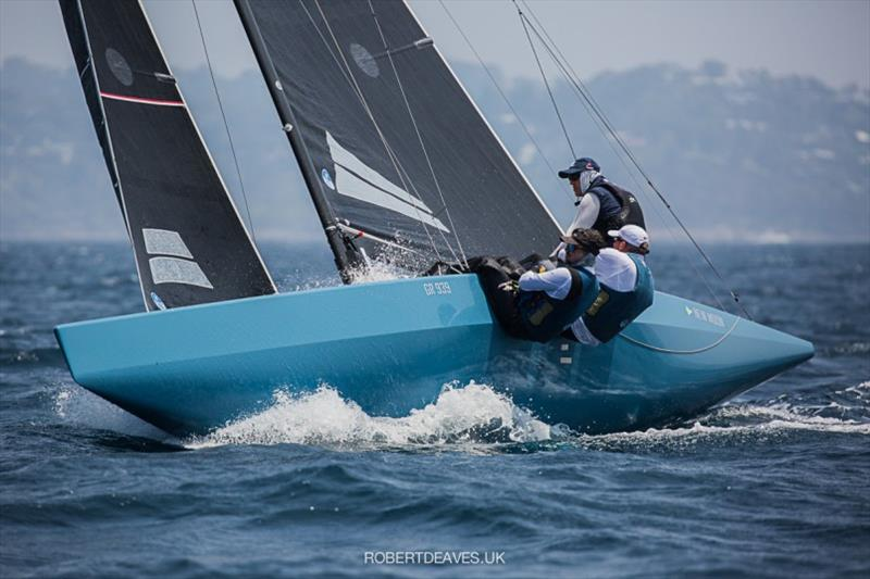New Moon II at the 2020 World Championship in Newport, Australia photo copyright Robert Deaves taken at Royal Prince Alfred Yacht Club and featuring the 5.5m class