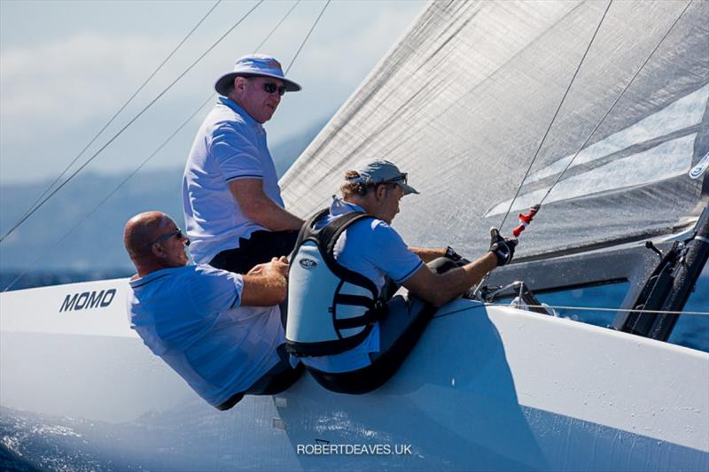 2nd - Momo - 5.5 Metre European Championship 2020 photo copyright Robert Deaves taken at Yacht Club Sanremo and featuring the 5.5m class