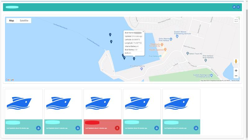 BoatSecure Fleet Manager View - photo © BoatSecure