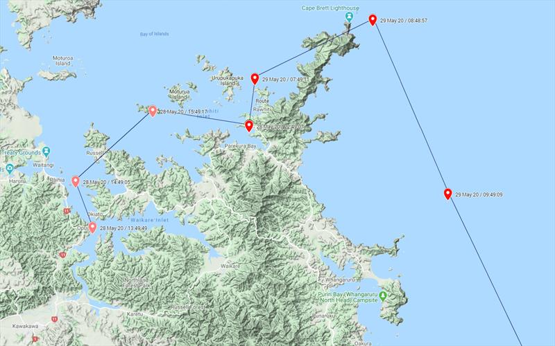 Hourly Position Reports by satellite from Bay of Islands trip - photo © BoatSecure
