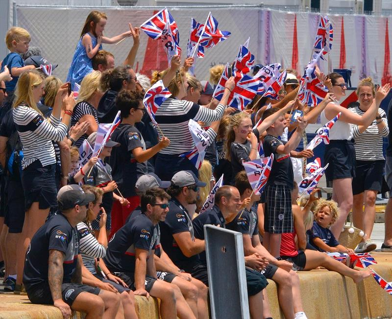 A strong national team brings out the supporters for the country - 2017 America's Cup Bermuda - photo © Scott Stallard