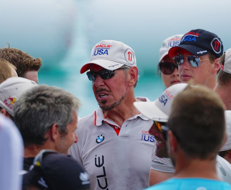 Oracle Team USA's Larry Ellison at the Presentation- 2017 America's Cup Bermuda - photo © Scott Stallard