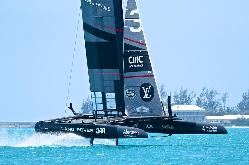 Land Rover BAR -before race 1, Round Robin 1, Day 4 - 35th America's Cup - Bermuda May 30, 2017 - photo © Richard Gladwell