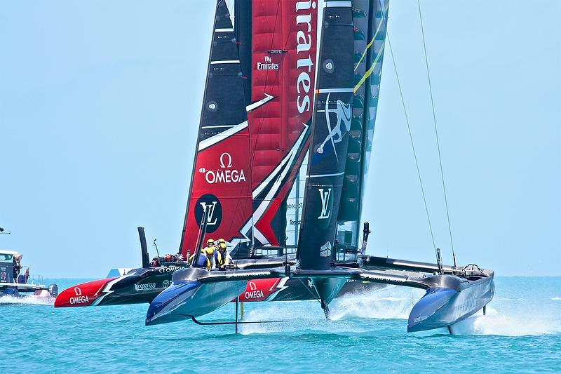 Emirates Team NZ and Artemis Racing, Mark 3, Race 1, Round Robin2, America's Cup Qualifier - Day 4, May 30, 2017 - photo © Richard Gladwell