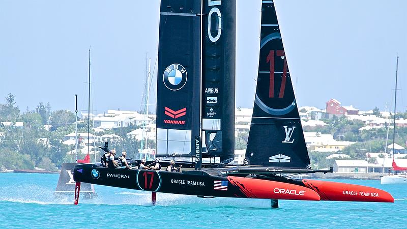 Oracle Team USA clears the start line, race 2, Round Robin2, America's Cup Qualifier - Day 4, May 30, 2017 - photo © Richard Gladwell