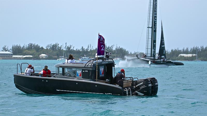Photographers at work - Leg 2 - Race 11 - Round Robin2, America's Cup Qualifier - Day 7, June 2, 2017 (ADT) - photo © Richard Gladwell