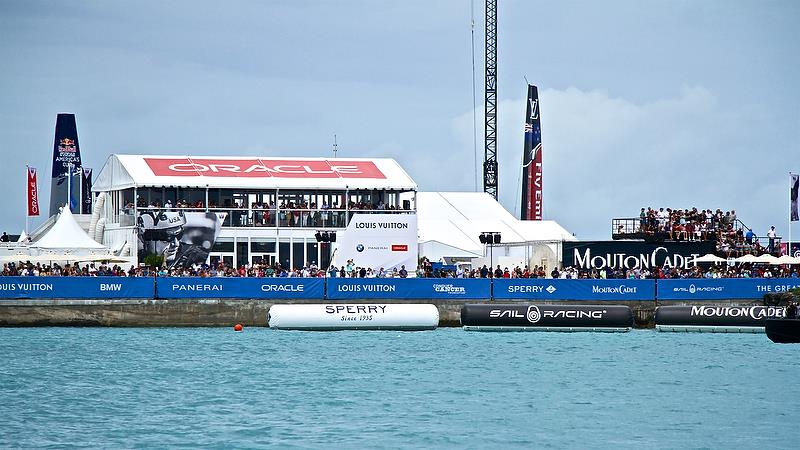 More stands full of OTUSA fans Round Robin 2, Day 8 - 35th America's Cup - Bermuda June 3, 2017 - photo © Richard Gladwell