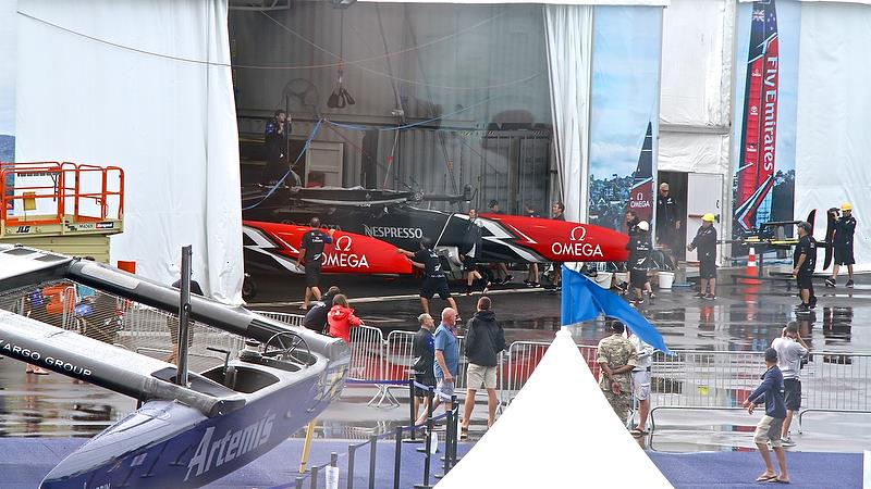 Emirates Team New Zealand back in the shed - Semi-Final, Day 11 - 35th America's Cup - Bermuda June 6, 2017 - photo © Richard Gladwell