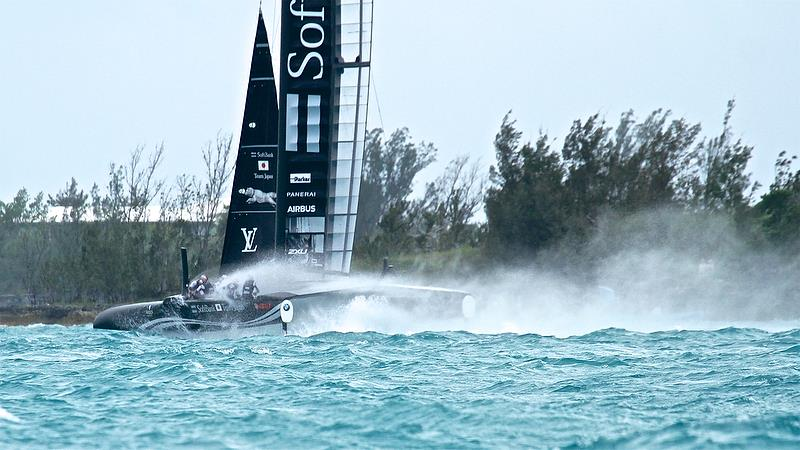 Softbank Team Japan - Leg 3 - Race 3 - Semi-Final, Day 11 - 35th America's Cup - Bermuda June 56, 2017 - photo © Richard Gladwell