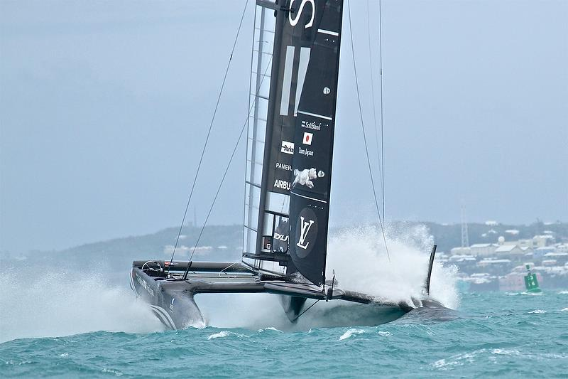 Softbank Team Japan - start of Leg 5 - Race 3 - Semi-Final, Day 11 - 35th America's Cup - Bermuda June 6, 2017 - photo © Richard Gladwell