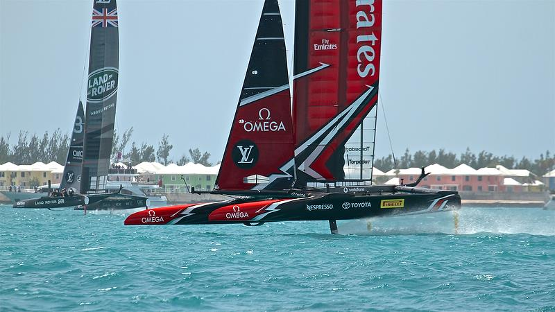 Land Rover BAR - Leads on Leg 5 - Race-5 - Semi-Finals, Day 11 - 35th America's Cup - Bermuda June 6, 2017 photo copyright Richard Gladwell taken at  and featuring the AC50 class