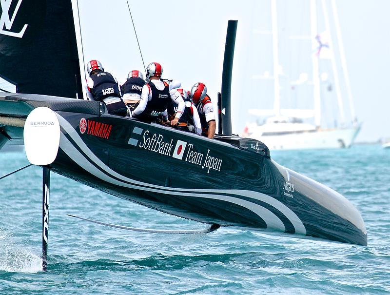 Softbank Team Japan - Race 6 - Semi-Finals, America's Cup Playoffs- Day 12, June 8, 2017 (ADT) photo copyright Richard Gladwell taken at  and featuring the AC50 class