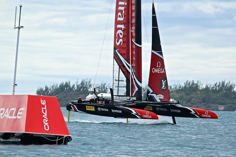 Emirates Team New Zealand - at Mark 3, Race 4 - Challenger Final, Day 2 - 35th America's Cup - Day 15 - Bermuda June 11, 2017 - photo © Richard Gladwell