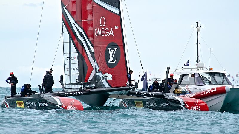Debrief Time - after Race 4 - Finals, America's Cup Playoffs- Day 15, June 11, 2017 (ADT) - photo © Richard Gladwell