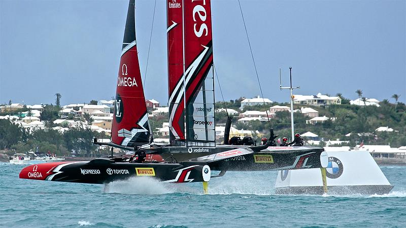 Emirates Team New Zealand - Mark 4, Race 5 - Challenger Final, Day 2 - 35th America's Cup - Day 15 - Bermuda June 11, 2017 - photo © Richard Gladwell