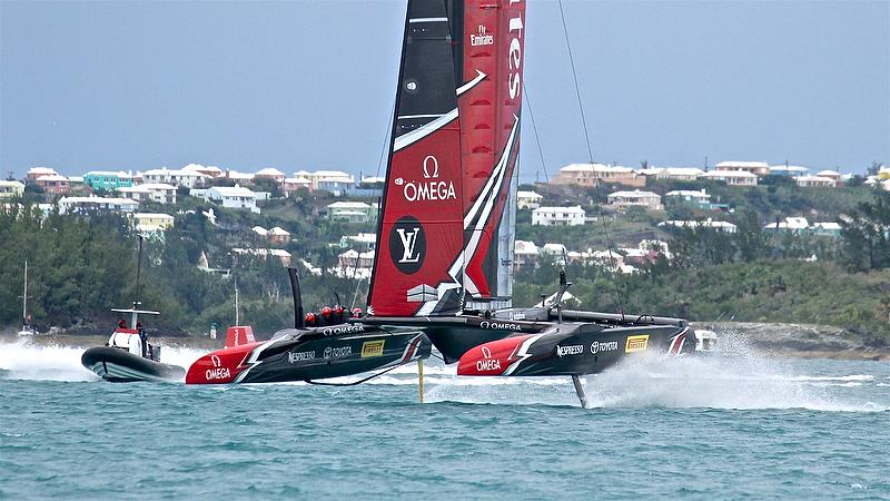 Emirates Team New Zealand Leg 6 - Race 5 - Finals, America's Cup Playoffs- Day 15, June 11, 2017 (ADT) - photo © Richard Gladwell