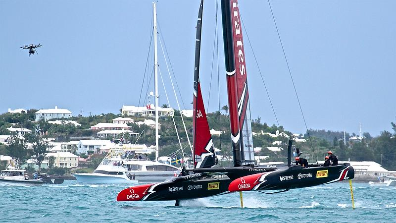Race 6 Finish - Finals, America's Cup Playoffs- Day 15, June 11, 2017 (ADT) - photo © Richard Gladwell