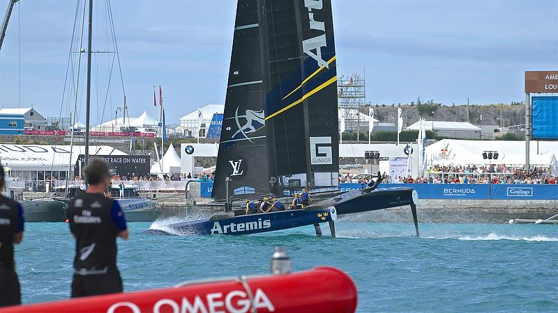 Artemis Racing finishes race 7 and exits the regatta - Challenger Finals, Day 16 - 35th America's Cup - Bermuda June 12, 2017 - photo © Richard Gladwell