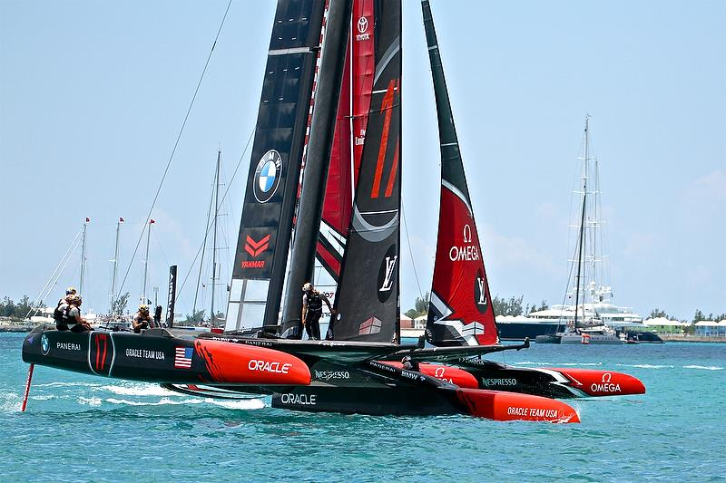 Emirates Team New Zealand and Oracle Team USA - 35th America's Cup Match - Start Race 1 - Bermuda June 17, 2017 - photo © Richard Gladwell
