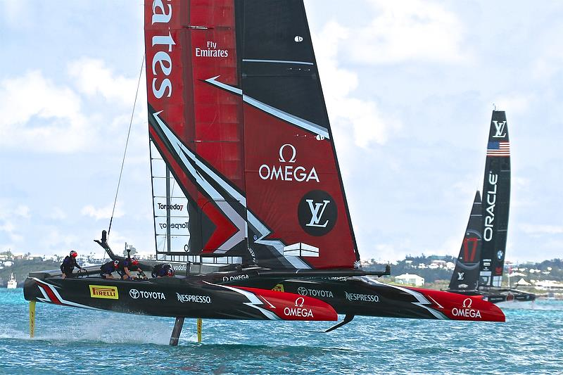Emirates Team New Zealand is well ahead - America's Cup 35th Match - Match Day1 - Regatta Day 17, June 17, 2017 (ADT) - photo © Richard Gladwell