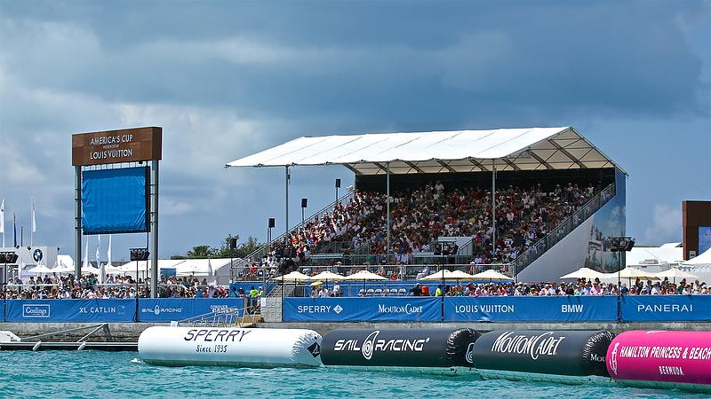 Tickets were a sell-out with a capacity crowd of 7,000 ticketed seats and 10,000 fans in total - America's Cup 35th Match - Match Day1 - Regatta Day 17, June 17, 2017 (ADT) - photo © Richard Gladwell