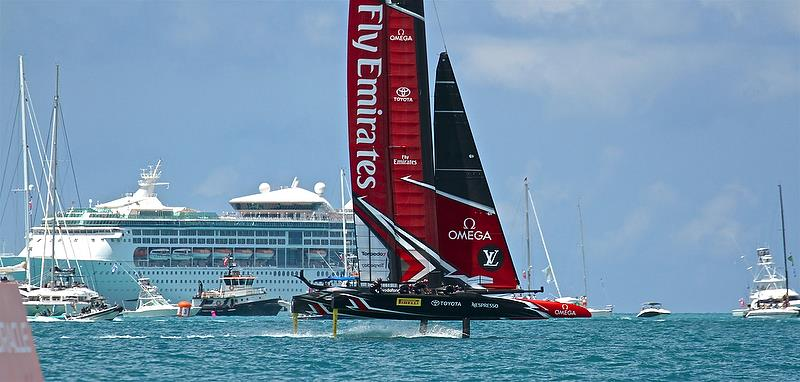 America's Cup 35th Match - Leg 2 - Match Day1 - Regatta Day 17, June 17, 2017 (ADT) - photo © Richard Gladwell