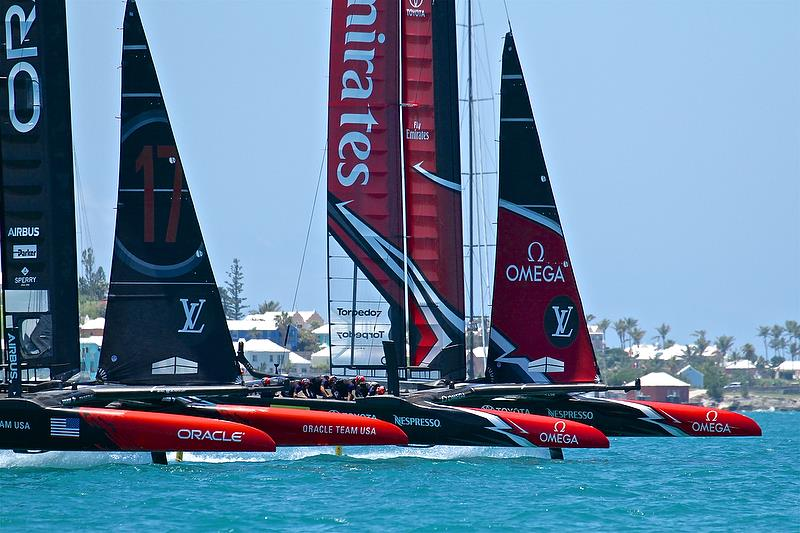 Start Race 3 - America's Cup 35th Match - Match Day2 - Regatta Day 18, June 18, 2017 (ADT) - photo © Richard Gladwell