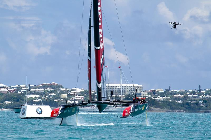 Emirates Team New Zealand on Leg 6 - America's Cup 35th Match - Match Day 5 - Regatta Day 21, June 26, 2017 (ADT) - photo © Richard Gladwell