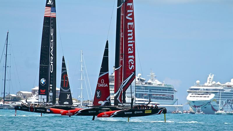 Emirates Team New Zealand in control on Leg 3 - America's Cup 35th Match - Match Day 5 - Regatta Day 21, June 26, 2017 (ADT) - photo © Richard Gladwell