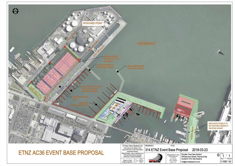 Plans for the America's Cup bases in Auckland - photo © Emirates Team New Zealand