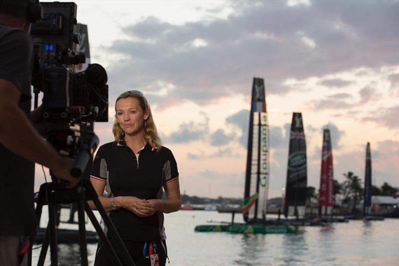 Shirley Robertson in Bermuda for the 35th America's Cup - photo © Image courtesy of Shirley Robertson Collection