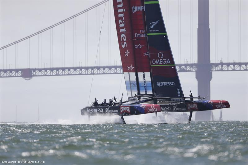 Emirates Team New Zealand go 6-0 up in the 34th America's Cup - photo © Balazs Gardi / ACEA