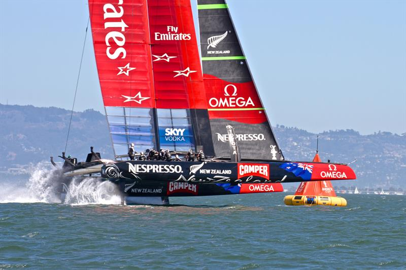 The `Foiling Dance` in the AC75 is expected to be similar to the routines and race mechanics the crews had to learn in the AC72 - photo © Richard Gladwell