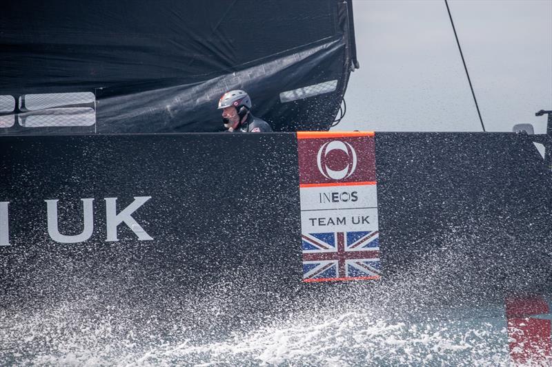 Sir Robin Knox-Johnston takes flight on Britannia - photo © C Gregory / INEOS TEAM UK