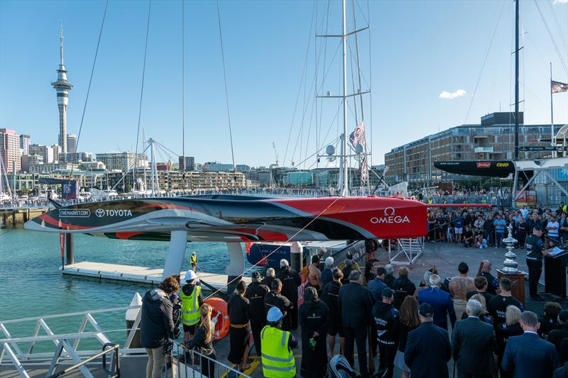 Emirates Team New Zealand reveal 'Te Rehutai' - their second generation AC75 - photo © Emirates Team New Zealand