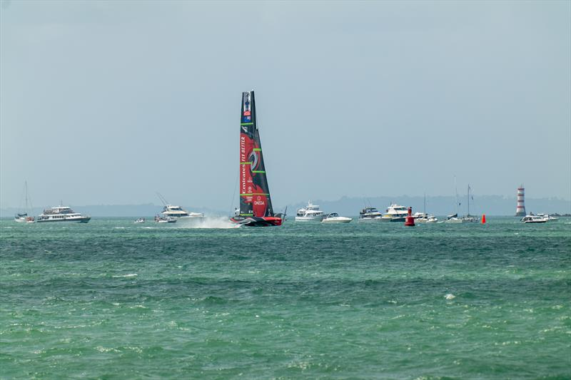 Emirates Team New Zealand on day 2 of PRADA ACWS Auckland - photo © Hamish Hooper / ETNZ