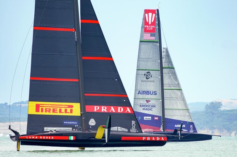 PRADA Cup Day 2: Round Robin 1 - Luna Rossa Prada Pirelli Team vs New York Yacht Club American Magic - photo © Luca Butto'