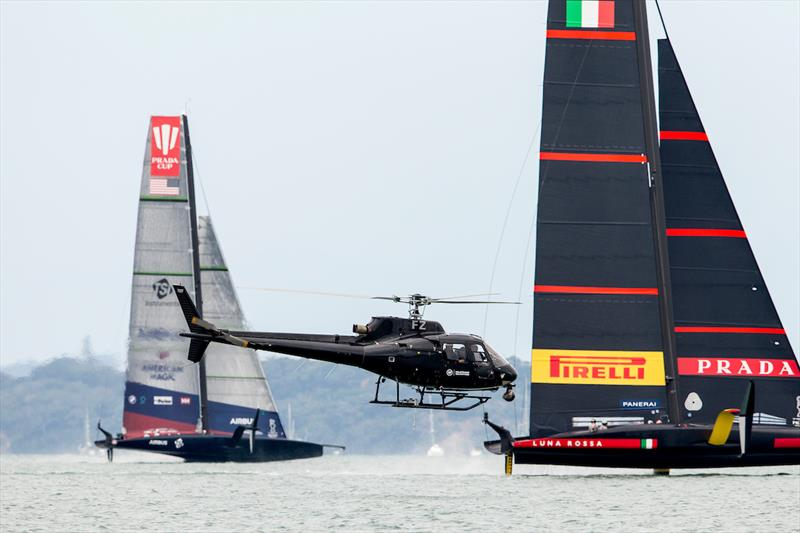 PRADA Cup Day 2: American Magic and Luna Rossa Prada Pirelli face off in race one of the day - photo © Sailing Energy / American Magic