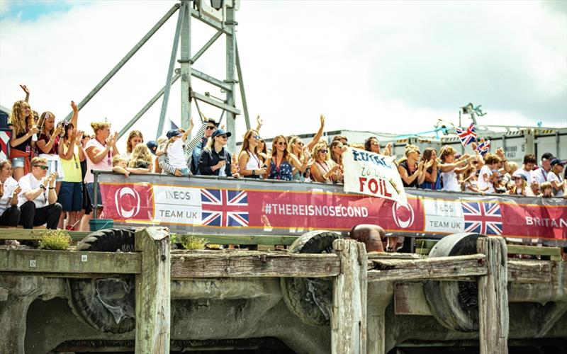 PRADA Cup Round Robin 3 - The families cheering the team at dock out - photo © Dan Wilko