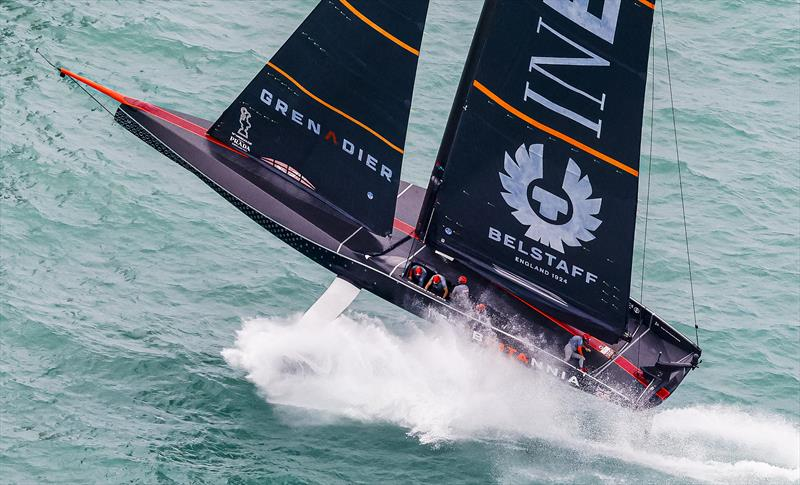 PRADA Cup Final day 2 - Airtime for Britannia in the race 4 pre-start - photo © COR36 / Studio Borlenghi