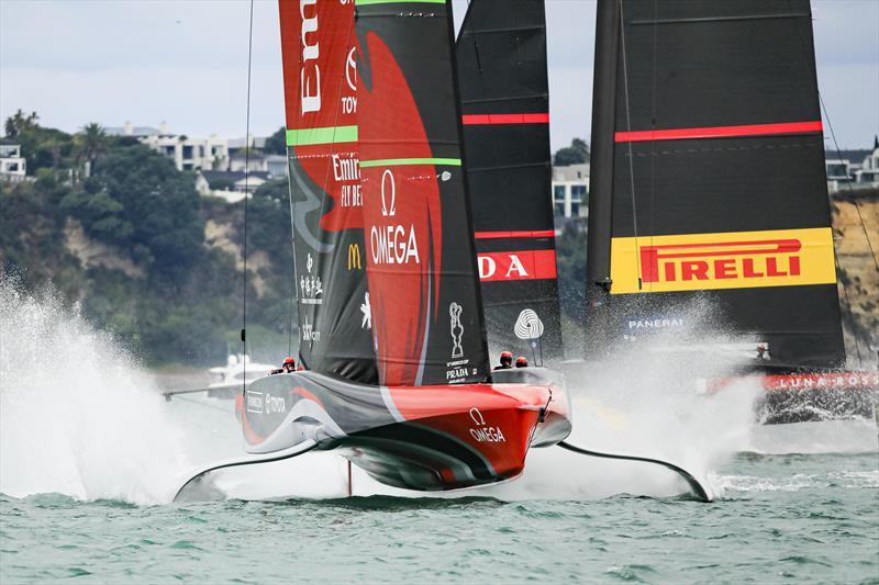 America's Cup match day 6 - Luna Rossa Prada Pirelli and Emirates Team New Zealand battle it out in race 9 - photo © ACE / Studio Borlenghi