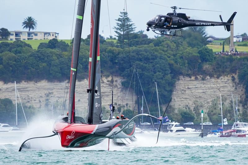 America's Cup match day 6 - helicopter following the action - photo © ACE / Studio Borlenghi